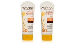2-Pack of Aveeno Protect + Hydrate SPF 50 Lotion Sunscreen (3 Oz. Each): 2-Pack of Aveeno Protect + Hydrate SPF 50 Lotion Sunscreen (3 Oz. Each)