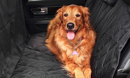 $29 for a Heavy-Duty Waterproof Pet Car Back Seat Cover with a Safety Belt (Don't Pay $109.45)