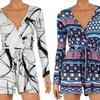 Women's Long Sleeve Printed Rompers