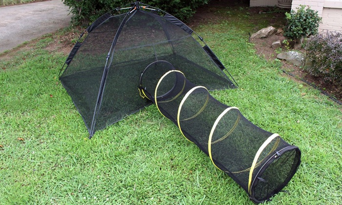 Happy Habitat Pop-Up Tent and Fun Run Tunnel Combo for Pets Happy Habitat ... & Happy Habitat Pop-Up Tent and Fun Run Tunnel Combo for Pets | Groupon