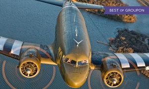 Greatest Generation Aircraft: $199 for Romantic Scenic Flight with Champagne and Chocolates for Two from Southern Cross C-47 ( Value)