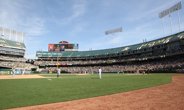 Oakland A's - Oakland-Alameda County Coliseum: Presale: Oakland A's Baseball Game at O.co Coliseum on April 11, 2015 (Up to 33% Off). Two Seating Options Available.