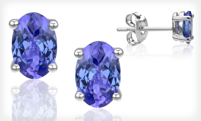 Oval Tanzanite Stud Earrings: $29 for Oval Tanzanite Stud Earrings ($110 List Price). Free Shipping and Free Returns.