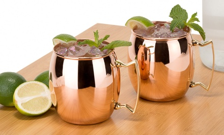 2-Pack of 16oz. Moscow-Mule 100% Copper Mugs