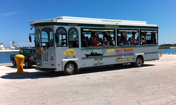 City View Trolley Tours - Key West: Hop-On, Hop-Off Trolley Tour for One, Two, or Four from City View Trolley Tours (36% Off)
