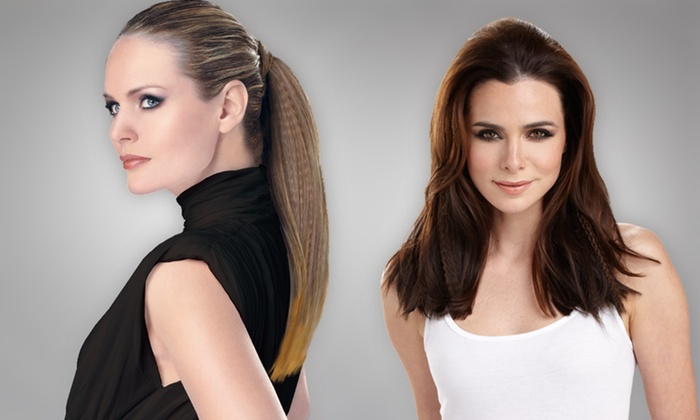 HairUWear Textured Clip-In Hair Extensions: HairUWear Textured Clip-In Hair Extensions (Up to 54% Off). Multiple Styles and Colors Available.