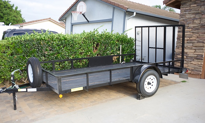 Flatbed Utility Trailer Rentals - Guajome: $30 for One-Day Utility-Trailer Rental from Flatbed Utility Trailer Rentals ($40 Value)