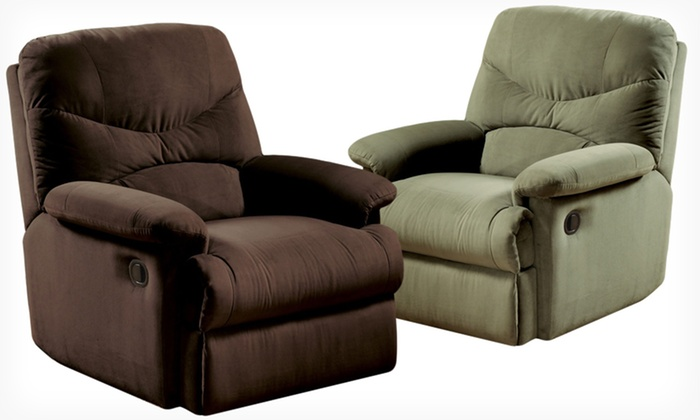 Acme Microfiber Recliner $199.99 for an Acme Microfiber Recliner in Beige Chocolate ...  sc 1 st  Groupon : chocolate microfiber recliner - islam-shia.org