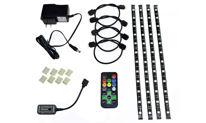 Hitlights eclipse pc led strip light kit groupon hitlights eclipse pc led strip light kit aloadofball