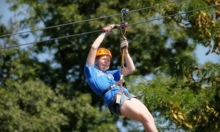 Adventures Ziplines of Pigeon Forge - 1: $99 for a Zipline Adventure for Two with Photos at Adventure Ziplines of Pigeon Forge in Sevierville ($227.90 Value)
