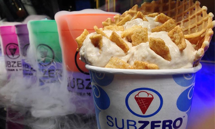 Sub Zero Ice Cream & Yogurt  - Shoppes At Gilbert Commons: $12.99 for Three Groupons, Each Good for $8 Worth of Ice Cream at Sub Zero Ice Cream & Yogurt  ($24 Total Value)