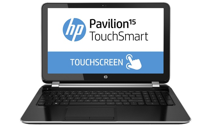 """HP Pavilion TouchSmart 15.6"""" Notebook: HP Pavilion 15.6"""" Touch Screen Notebook with Quad Core Processor, 4GB RAM & 750GB Hard Drive (Manufacturer Refurbished)"""