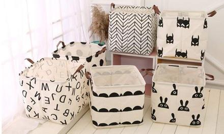 Cotton Linen Folding Storage Basket