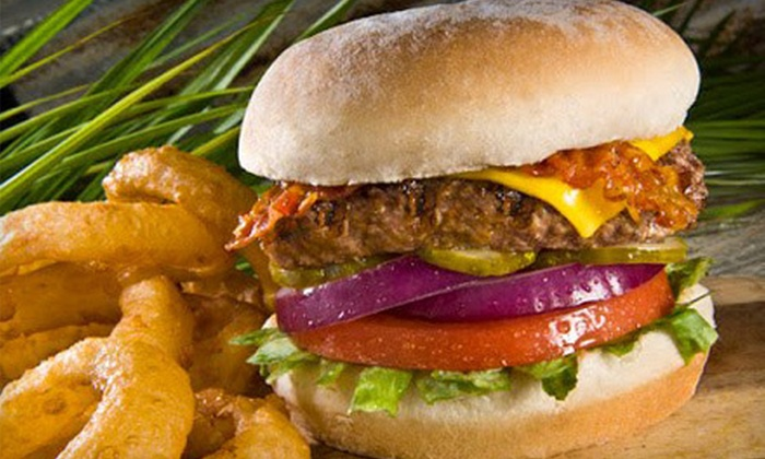 Hurricane Grill & Wings - Palm Beach Gardens: Burgers and Wings for Lunch or Dinner for Two or Four at Hurricane Grill & Wings (Up to 53% Off)