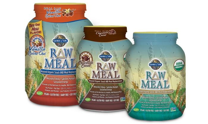 Raw meal replacement powder groupon goods Garden of life meal replacement reviews