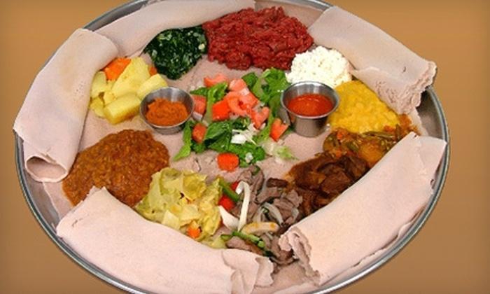 Ethiopian Diamond Restaurant - Ethiopian Diamond: $20 for $40 Worth of Ethiopian Food and Drinks at Ethiopian Diamond Restaurant