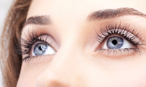 Unias Nail Lounge: Eyelash Extensions with Optional Waxing and Eyebrow Shaping at Uñas Nail Lounge (Up to 62% Off)