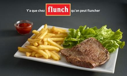 Chez flunch, pour 1€ seulement, 10€ de réduction sur l'addition, midi et soir*