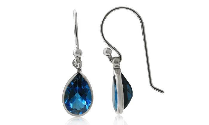 6a6b84261062 2.00 CTTW London Blue Topaz Drop Earrings