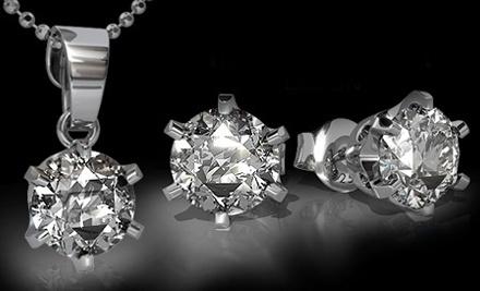 One Pair of Swarovski Zirconia Crystal Earrings (a $79.89 value) - SilvexCraft in