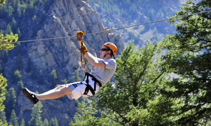 Arkansas Valley Adventures - Idaho Springs: Two-Hour Zipline Tour with Photo CD for One, Two, or Four from Arkansas Valley Adventures (Up to 59% Off)