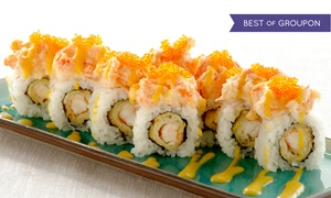 Sushi Blvd: $15 for $25 or $29 for $50 Worth of Sushi, Japanese Cuisine, and Sake at Sushi Blvd