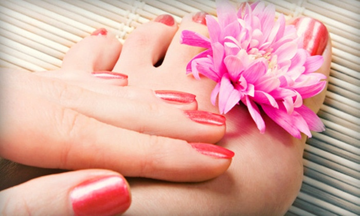 Petite Retreat - Downtown Fredericksburg: Basic Mani-Pedi or Women's Cut and Style with Partial Highlights or Full Color at Petite Retreat (Up to 54% Off)