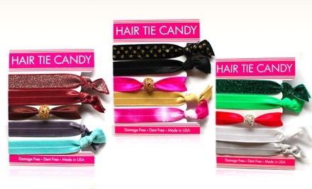 Hair Tie Candy 5-Pack of Holiday Hair Ties. Multiple Color Assortments Available.