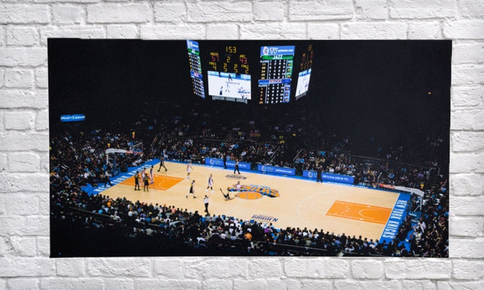 """NBA Arena Gallery Wrapped Canvas Print: $69.99 for NBA Arena 40""""x22"""" Gallery Wrapped Canvas Print ($185 List Price).  Free Shipping and Returns."""