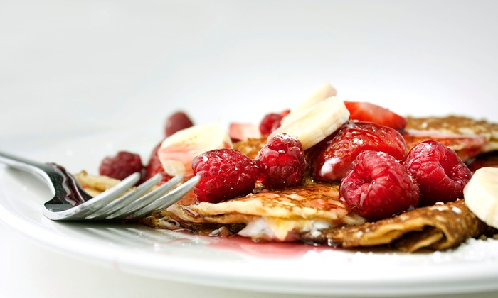 Cupcake Lady Cafe - Penticton: Two or Four Sweet Crepes or Waffles and Coffee at Cupcake Lady Cafe (Up to 51% Off)