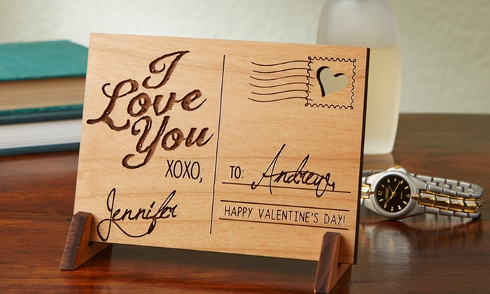 up to 60 off on personalized wood postcard groupon goods