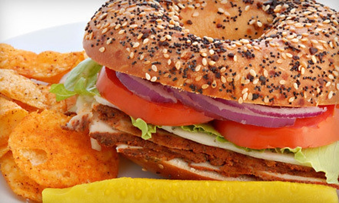 Busy Bee Bagel Cafe - Bedford - Stuyvesant: Five-Visit Punch Card for Café Fare or a Sandwich Meal for Two at Busy Bee Bagel Cafe (Up to Half Off)