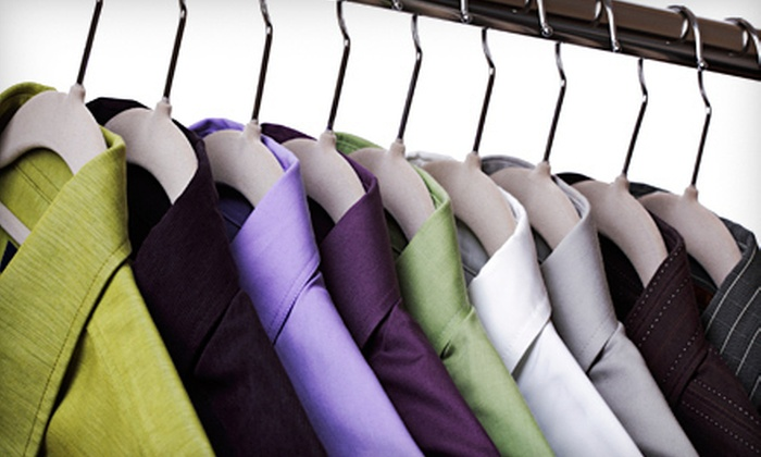 Crystal Hanger Cleaners - Multiple Locations: Dry-Cleaning Services at Crystal Hanger Cleaners (Half Off). Two Options Available.