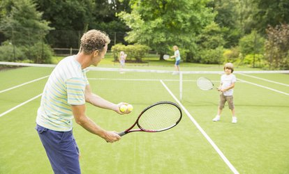 image for Monthly Adult Clinic or Kid's Play Day at Your Court <strong>Tennis</strong> (Up to 56% Off)