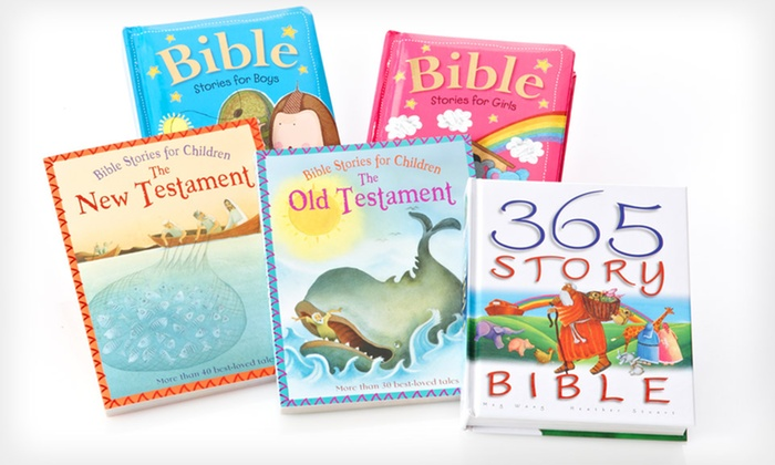 Bible Storybook Bundles: $19.99 for a Bible Storybook Bundle for Boys or Girls ($70.80 List Price). Free Shipping.