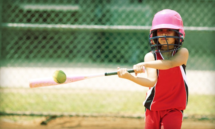Arena Softball - Roseville: 10 Batting-Cage Tokens or Kickball Party for 18 with 40 Batting-Cage Tokens at Arena Softball (Up to 56% Off)
