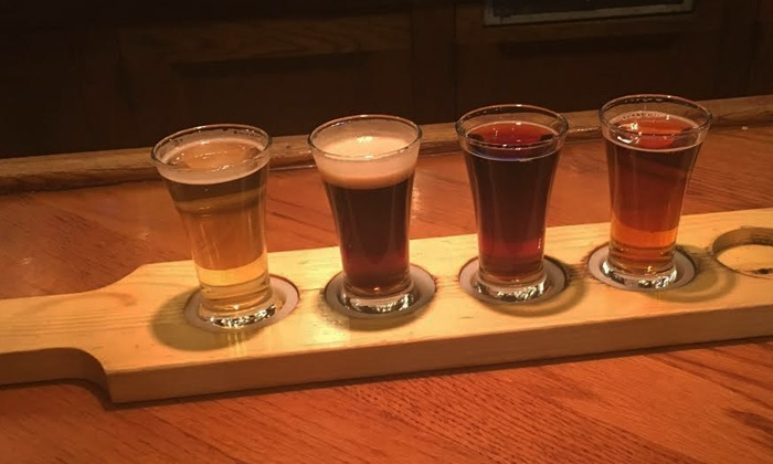 Seven Barrel Brewery - Seven Barrel Brewery: $24 for Beer Flights and Bar Snack for Two with One Growler at Seven Barrel Brewery ($37 Value)