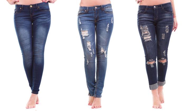 V.I.P. Skinny-Leg Jeans | Groupon Goods