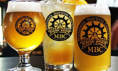 image for Beer and Food for Two at Millcreek Brewing Company (Up to 42% Off). Two Options Available.