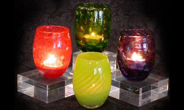 Uptown Glassworks - Industrial District East: Blow-Your-Own Glass-Votive-Candleholder Experience for One or Two at Uptown Glassworks (Up to 51% Off)