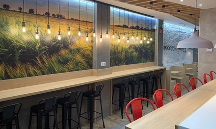 Menú para 2 o 4 personas con entrante, principal, acompañamiento y bebida en Dubbidú (hasta 62% de descuento)