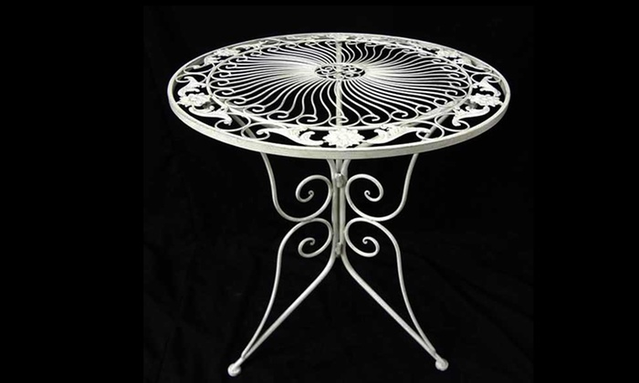 Sedie In Ferro Battuto Pieghevoli : Tavoli e sedie in ferro battuto groupon goods