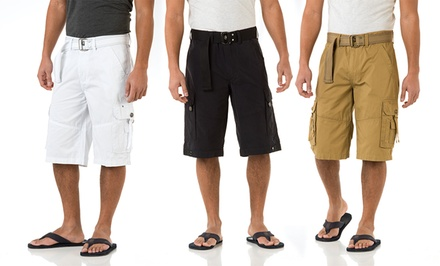 Royal Premium Men's Cargo Shorts with Matching Belts. Multiple Styles Available. Free Returns.