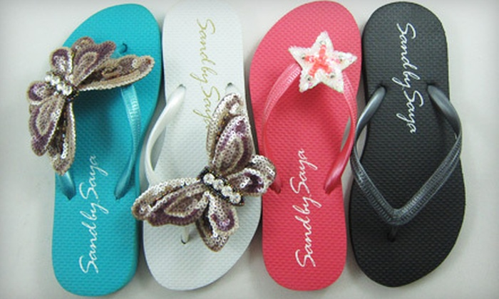 Sand by Saya: Black, Pink, White, or Turquoise Handmade Sandals from Sand by Saya (Up to 72% Off). Three Sizes Available.