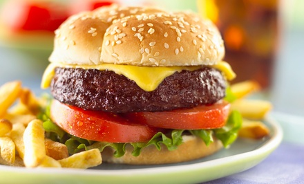 $15 for Two Vouchers, Each Valid for $15 Worth of American Cuisine at Schoop's Hamburgers ($30 Value)