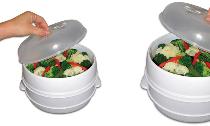 Chef Buddy Two-Tier Microwave Steamer Food Cooker: Chef Buddy Two-Tier Microwave Steamer Food Cooker. Free Returns.