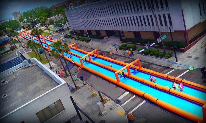 The Urban Slide - Jacksonville - Jacksonville: Single, Triple, or 5x Slider Admission to The Urban Slide on Saturday, July 16 or Sunday, July 17 (50% Off)