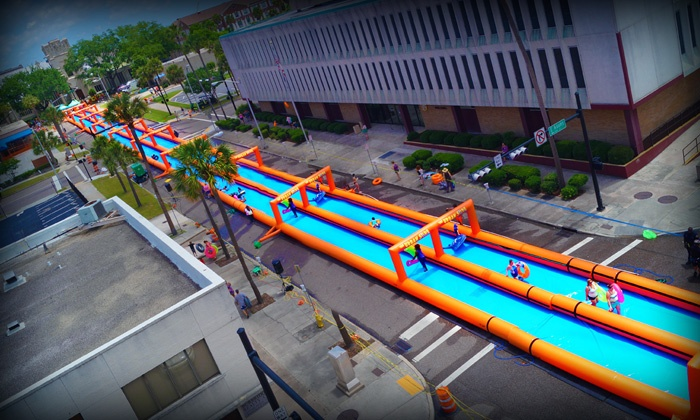 The Urban Slide - Montgomery Street: Single, Triple, or 5x Slider Admission to The Urban Slide on Saturday or Sunday, May 7 or 8 (Up to 50% Off)