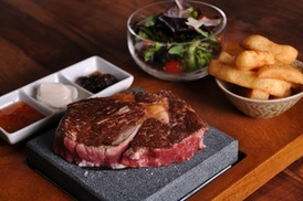 Steakhouse London: Volcanic Rock Steak Meal with Wine at Steakhouse London (Up to 53% Off)