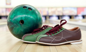 Pins & Cues Bowling Center: Bowling Packages for Two or Four People at Pins & Cues Bowling Center (Up to 64% Off). Five Options Available.